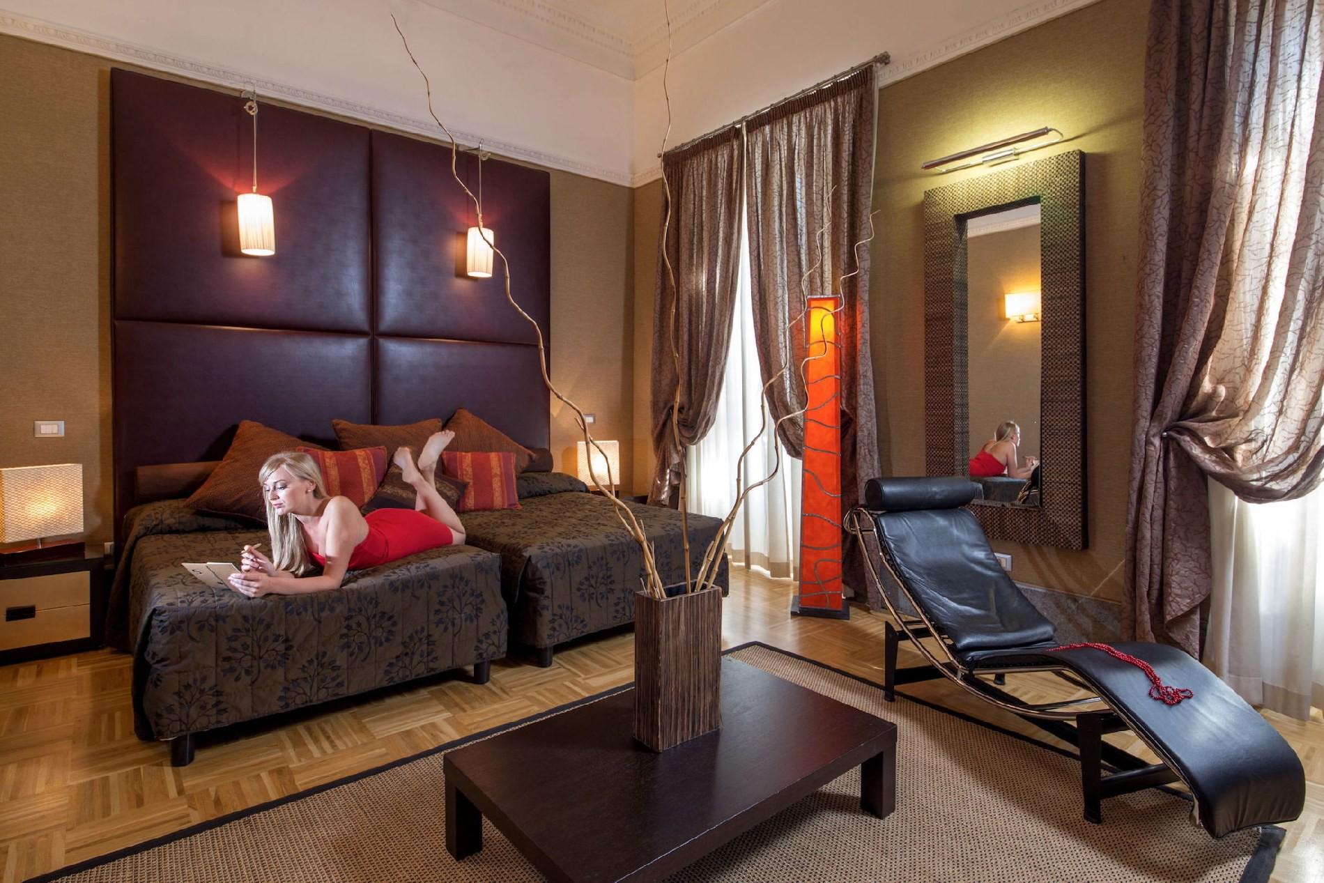 Hotel morgana roma camera family hotel 4 stelle roma for Camera roma