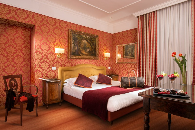 ホテルモルガナローマ-快適な部屋1